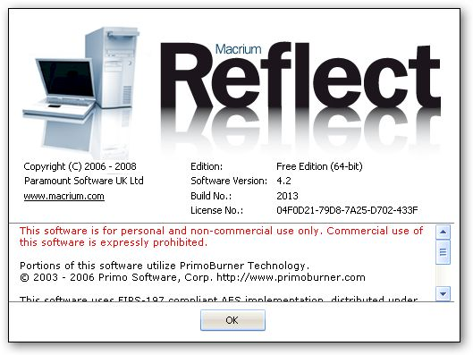 Macrium Reflect Backup x64 version
