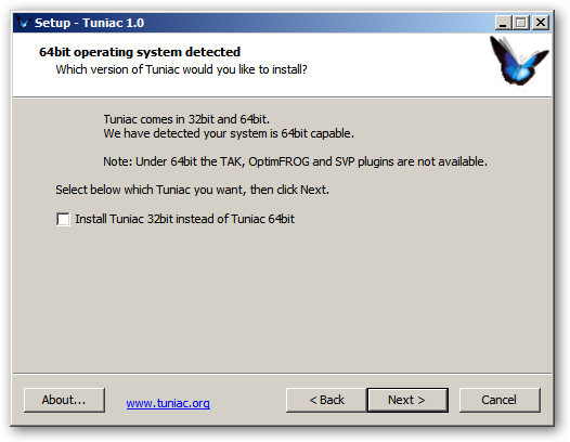 Tuniac 64bit version